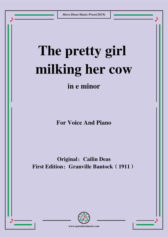 Bantock-Folksong,The pretty girl milking her cow
