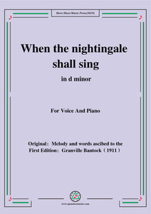 Bantock-Folksong,When the nightingale shall sing(Quant li Rosignol jolis)