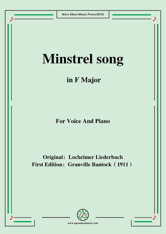 Bantock-Folksong,Minstrel song(Minnelied)