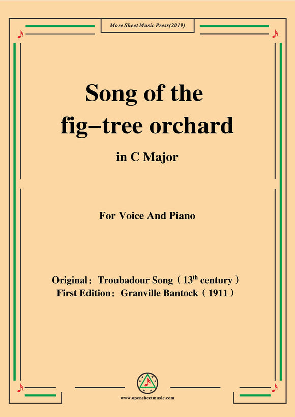 Bantock-Folksong,Song of the fig-tree orchard(Canção de Figueiral)