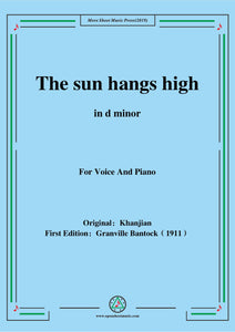 Bantock-Folksong,The sun hangs high(Charki Hidjaz)