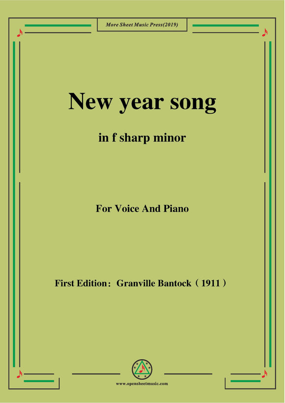 Bantock-Folksong,New year song(Haru-no-uta)