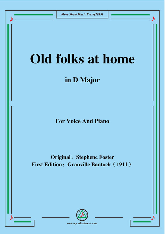 Bantock-Folksong,Old folks at home