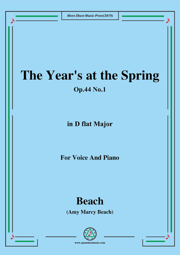Beach-The Year's at the Spring