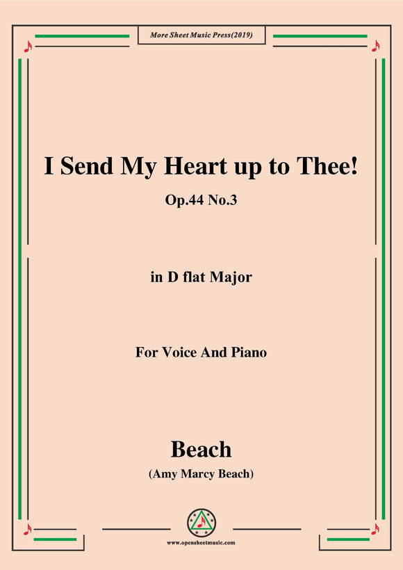 Beach-I Send My Heart up to Thee!Op.44 No.3