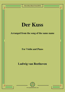 Beethoven-Der Kuss,for Violin and Piano