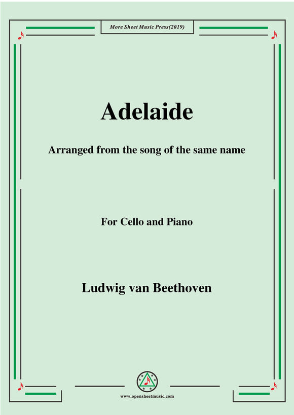 Beethoven-Adelaide,for Cello and Piano