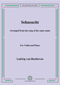 Beethoven-Sehnsucht,for Violin and Piano