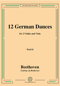 Beethoven-12 German Dances,for 2 Violins and Viola