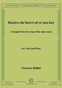 Bellini-Finestra che lucevi,for Cello and Piano