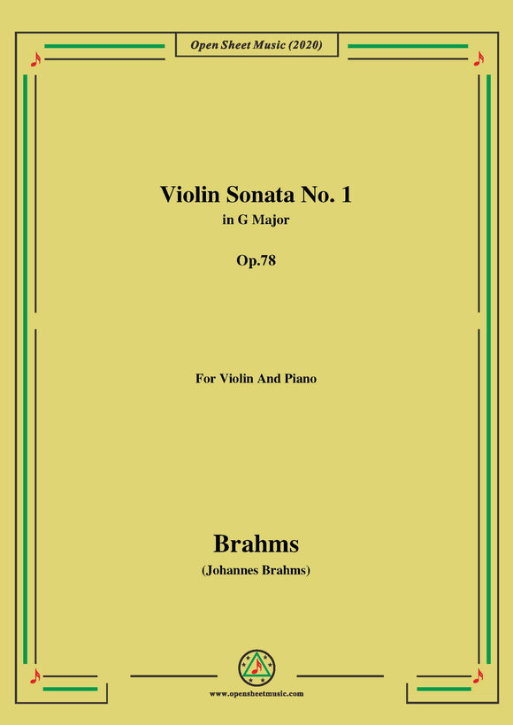 Brahms-Violin Sonata No.1 in G Major,Op.78