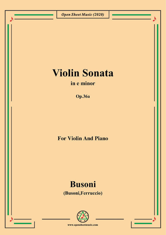 Busoni-Violin Sonata in e minor,Op.36a