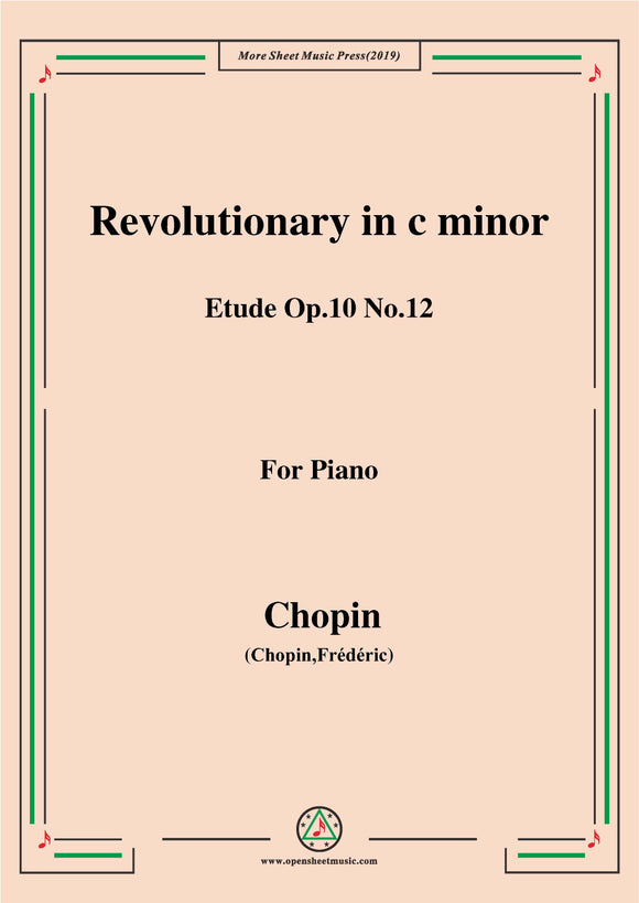 Chopin-Etude Op.10 No.12 in c minor,Revolutionary1,for Piano