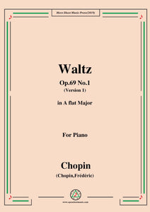 Chopin-Waltz,in A flat Major,Op.69 No.1,for Piano