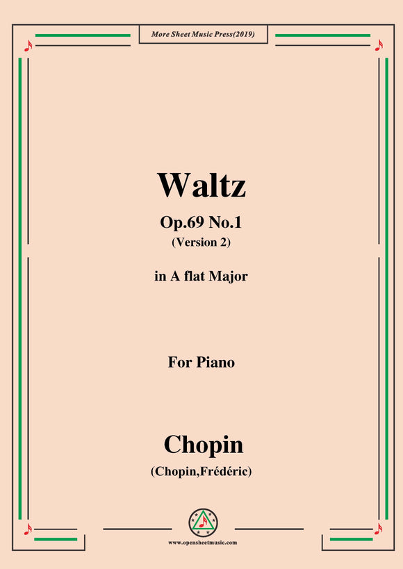 Chopin-Waltz,in A flat Major,Op.69 No.1(Version 2),for Piano