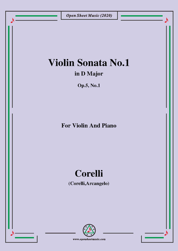 Corelli-Violin Sonata No.1 in D Major,Op.5 No.1