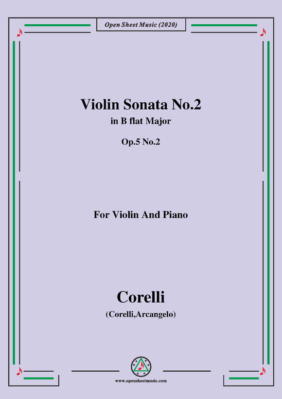 Corelli-Violin Sonata No.2 in B flat Major,Op.5 No.2