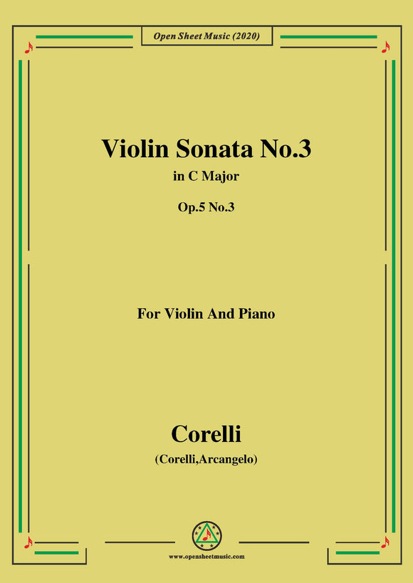 Corelli-Violin Sonata No.3 in C Major,Op.5 No.3