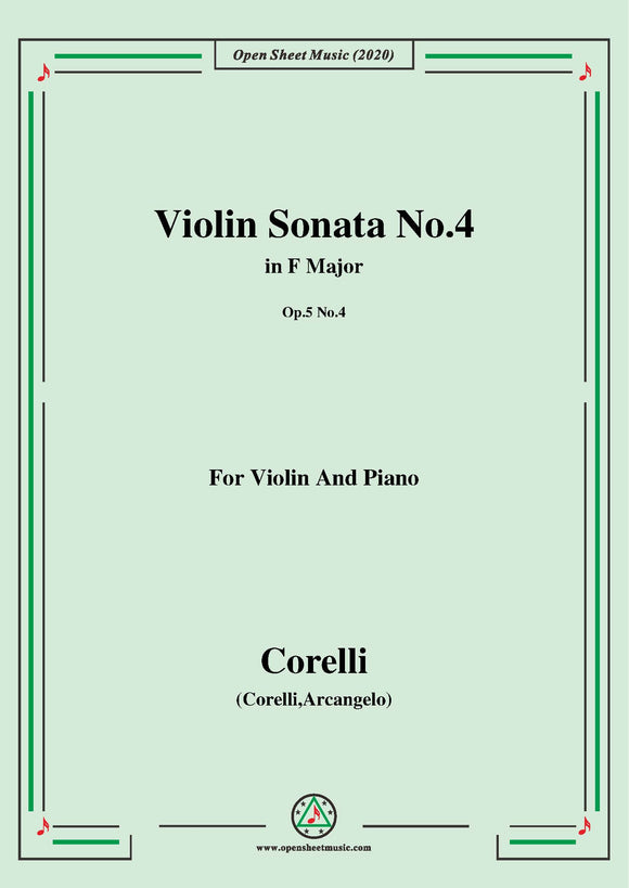 Corelli-Violin Sonata No.4 in F Major,Op.5 No.4