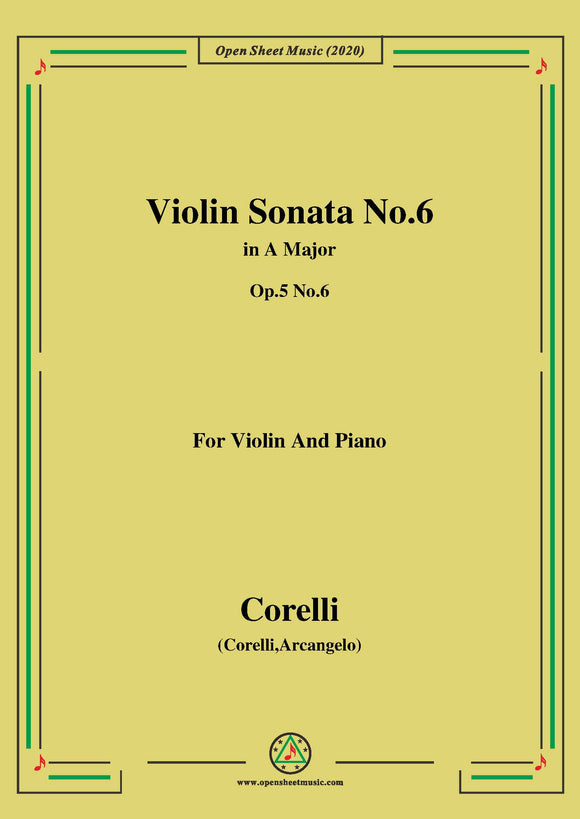 Corelli-Violin Sonata No.6 in A Major,Op.5 No.6