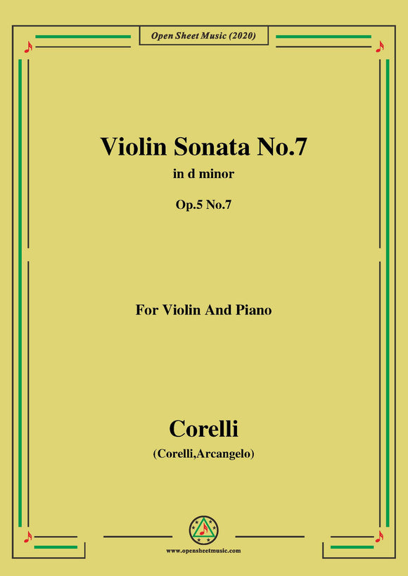 Corelli-Violin Sonata No.7 in d minor,Op.5 No.7