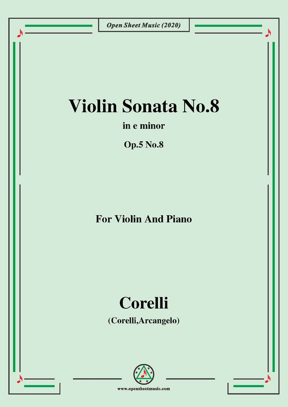 Corelli-Violin Sonata No.8 in e minor,Op.5 No.8
