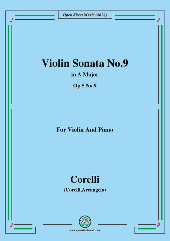 Corelli-Violin Sonata No.9 in A Major,Op.5 No.9