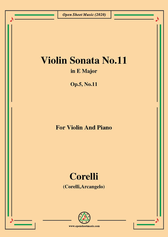 Corelli-Violin Sonata No.11 in E Major,Op.5 No.11