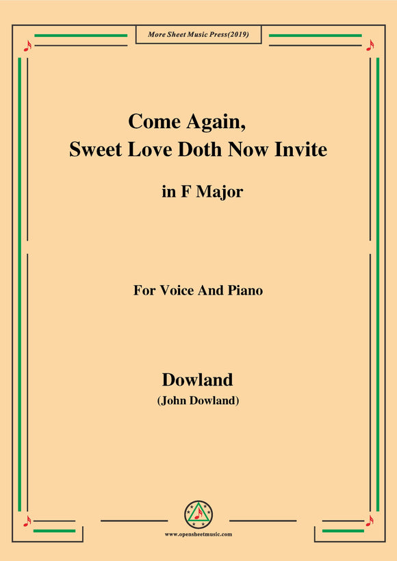 Dowland-Come Again,Sweet Love Doth Now Invite