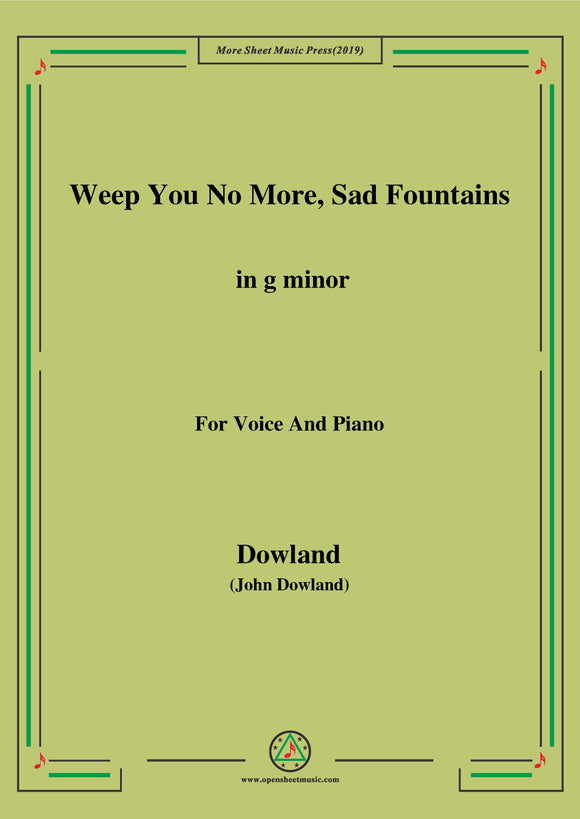 Dowland-Weep You No More,Sad Fountains