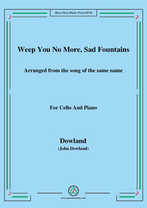 Dowland-Weep You No More,Sad Fountains,for Cello and Piano