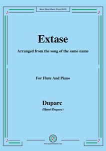 Duparc-Extase,for Flute and Piano