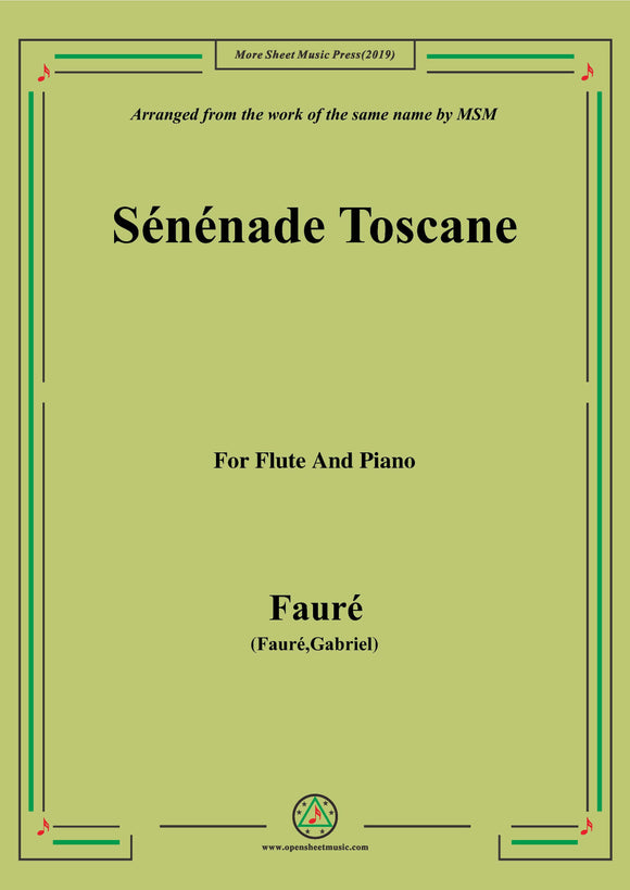 Fauré-Sénénade Toscane,for Flute and Piano