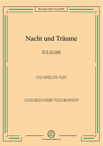 Schubert-Nacht und Träume,for Voice and Piano