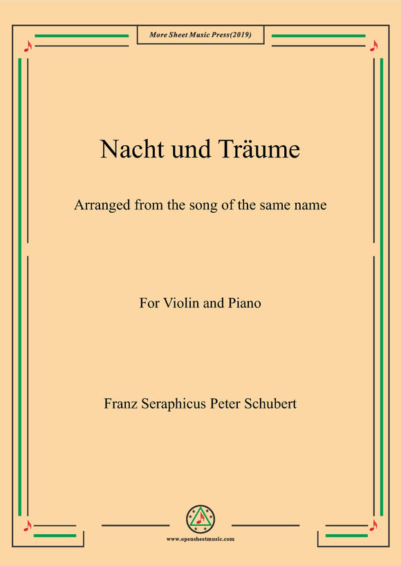 Schubert-Nacht und Träume,for Violin and Piano
