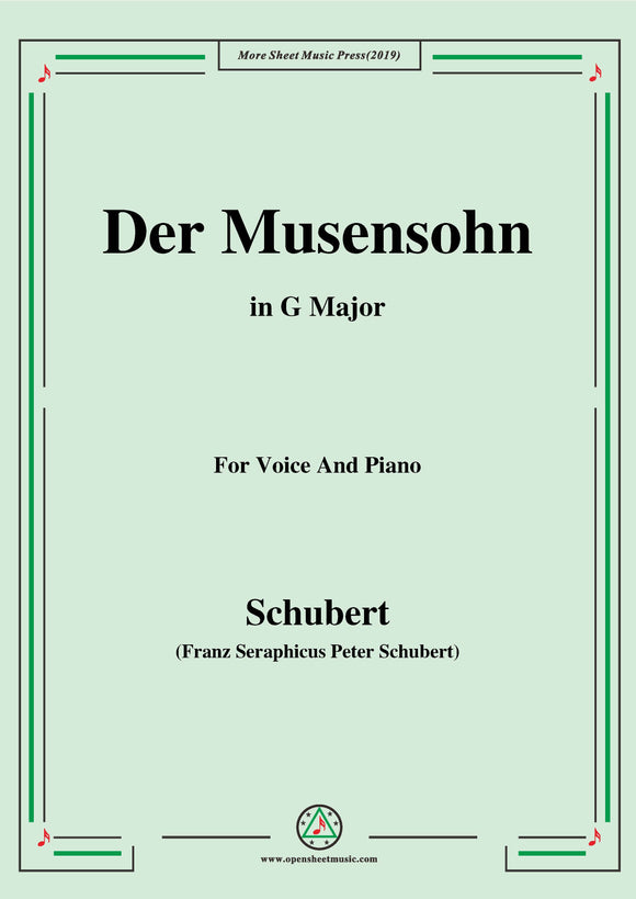 Schubert-Der Musensohn,for Voice and Piano