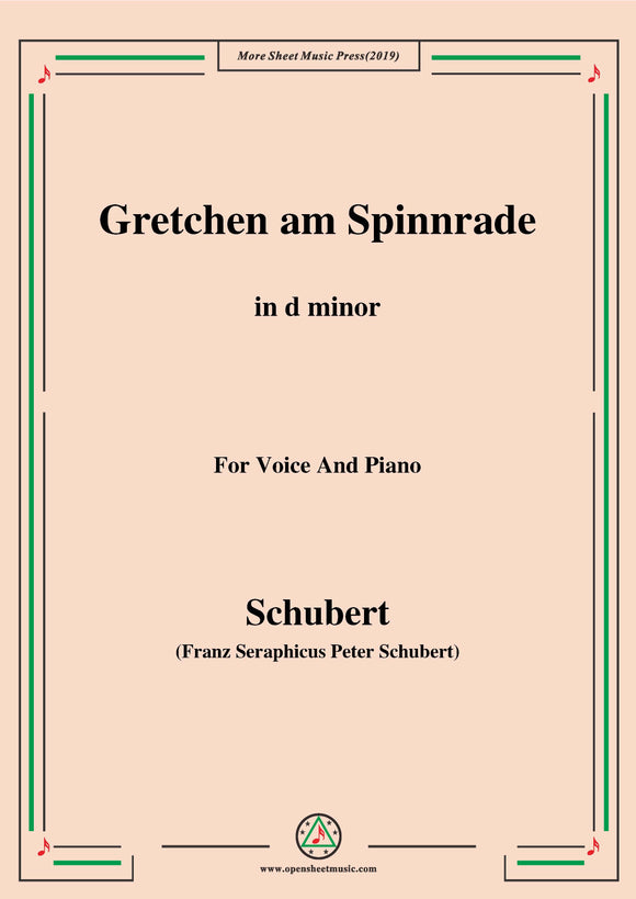 Schubert-Gretchen am Spinnrade,for Voice and Piano