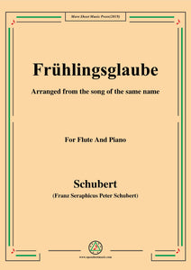 Schubert-Frühlingsglaube,for Flute and Piano