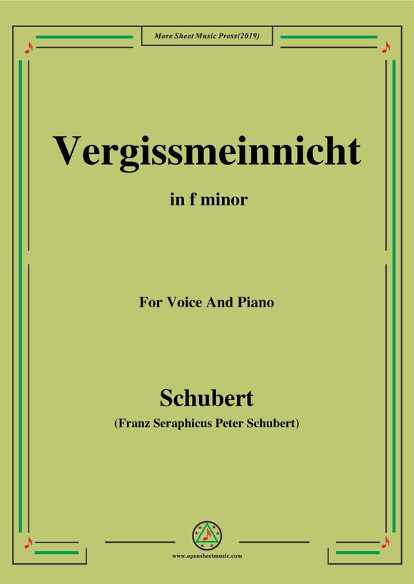 Schubert-Vergissmeinnicht