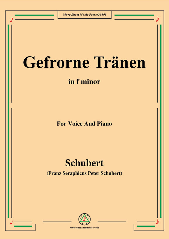 Schubert-Gefrorne Tränen,from 'Winterreise',Op.89(D.911) No.3
