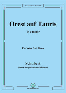 Schubert-Orest auf Tauris(Orestes on Tauris),D.548