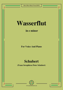 Schubert-Wasserflut,from 'Winterreise',Op.89(D.911) No.6
