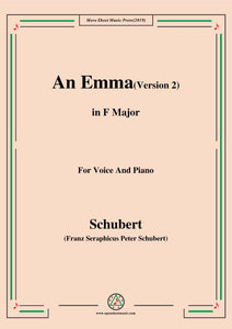 Schubert-An Emma(2nd version),D.113