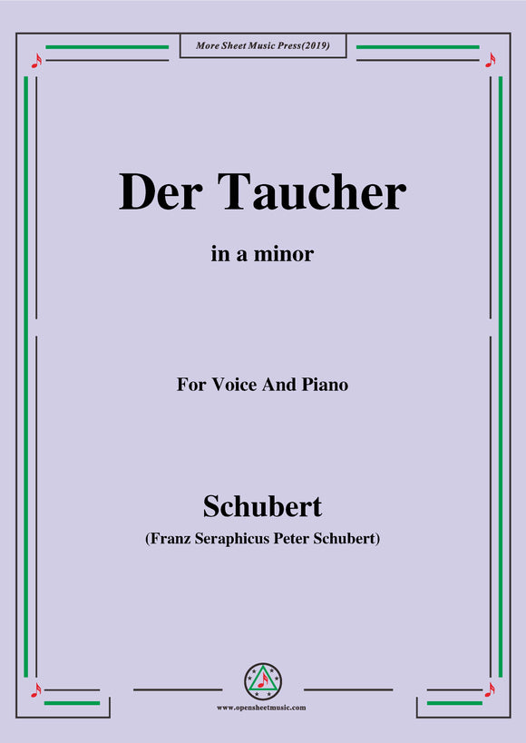 Schubert-Der Taucher(The Diver),D.77 (formerly D.111)