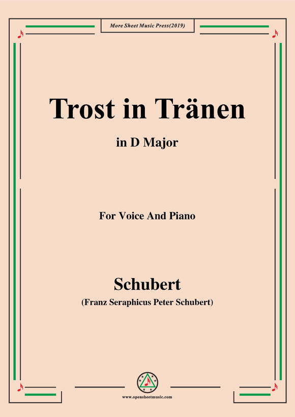 Schubert-Trost in Tränen