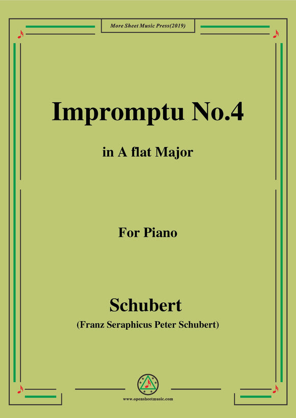 Schubert-Impromptu No.4 in A flat Major