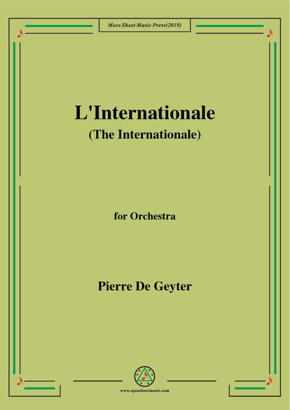 De Geyter-L'Internationale,for Orchestra