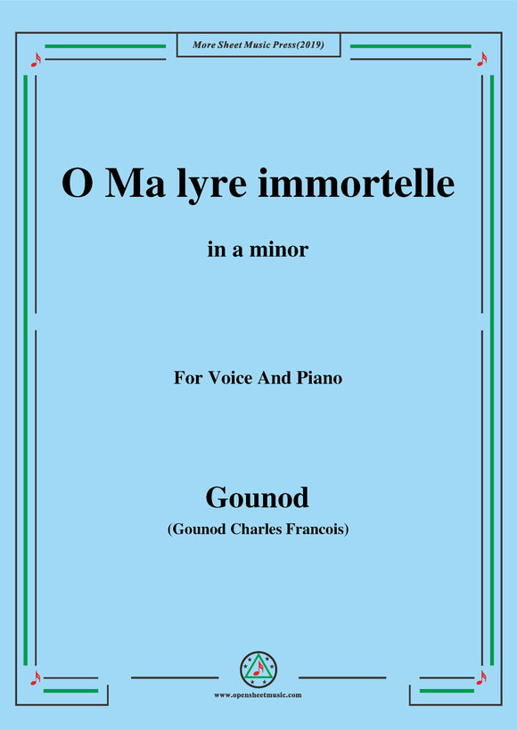 Gounod-O Ma lyre immortelle,from 'Sapho'