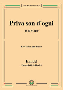 Handel-Priva son d'ogni,from 'Giulio Cesare'