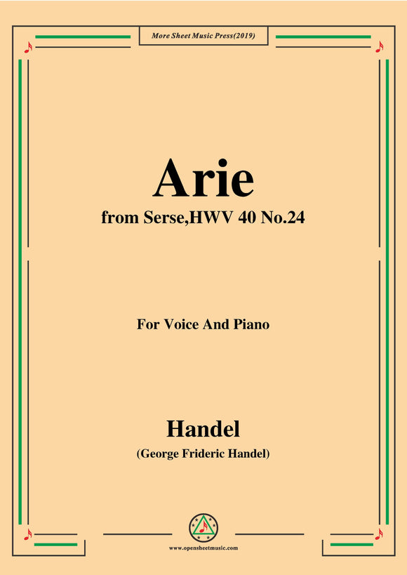 Handel-Arie,from Serse HWV 40 No.24